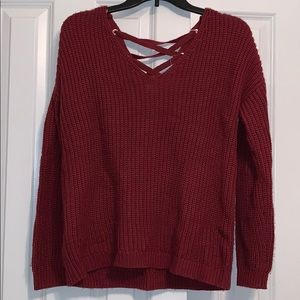 Small Lace Up Reversible Sweater